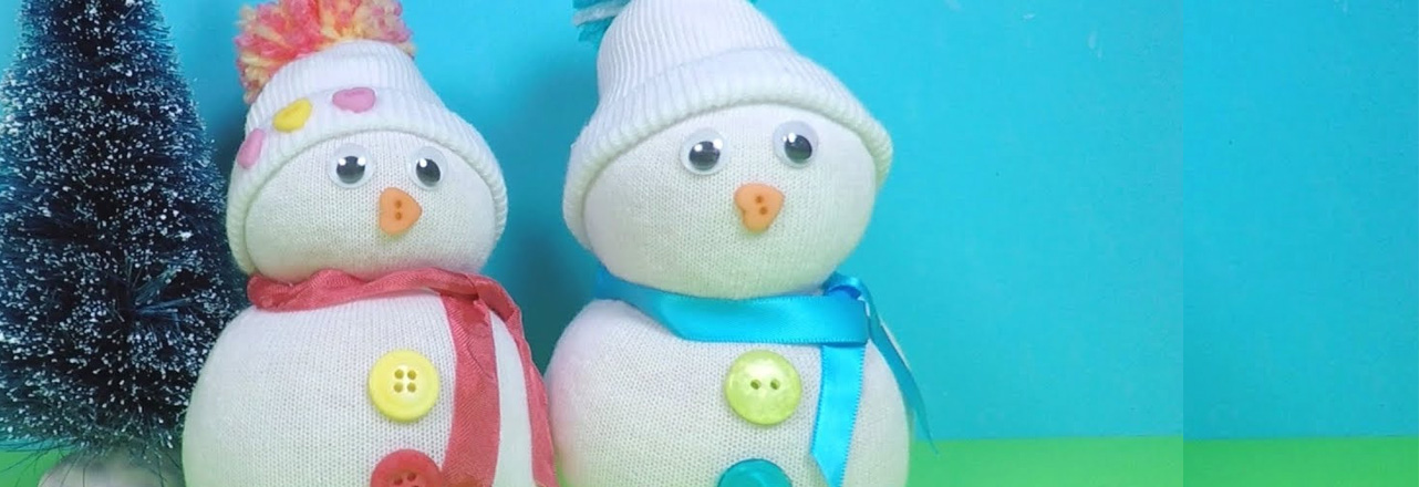 two crafted snowmen